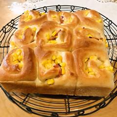 マヨネーズ/コーン/ベーコン/手作りパン ベーコーンマヨパン。  ベーコーン、コー…