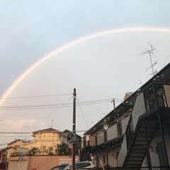 虹 昨日のものすごい雨の後には  大きな二重…(2枚目)