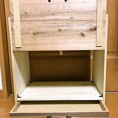 棚/素麺の箱 半田そうめんの木箱を使って 棚を作りまし…(3枚目)
