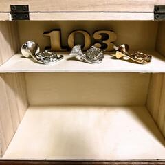100円ショップトップ/ホルンコレクション/暮らし/100均/100均グッズ/最近買った100均グッズ/... ダイソーで見つけたウッド収納ボックス。 …(4枚目)