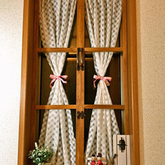 ドア/セリア/窓/飾り/キャンドゥ/窓枠/... 窓枠をつくったはめ殺しの窓。 キャン★ド…(2枚目)