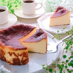 おうちカフェ/デザート/スイーツ/バスクチーズケーキ/チーズケーキ/至福のひととき/... バスクチーズケーキ♪