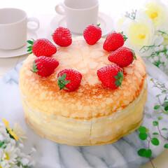 おうちカフェ/フルーツミルクレープ/ミルクレープ/スイーツ/手作りおやつ/デザート/... ミルクレープ♪(2枚目)