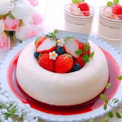 いちごスイーツ/ミルクババロア/ババロア/母の日プレゼント/母の日のプレゼント/手作りおやつ/... ミルクババロア♪