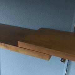 ガチャ棚/ロイヤル/壁面収納  残してもらった板の長さが足りない部分は…