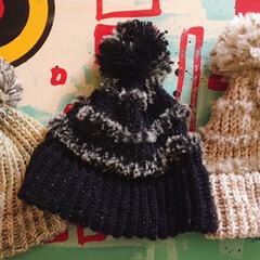 ハンドメイド/DIY/100均/セリア/ファッション/バレンタイン/... セリアのニット帽メーカーでニット帽作りま…
