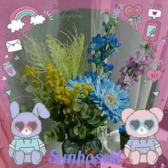 セリア セリアで夏のリース作りに使う造花を買って…
