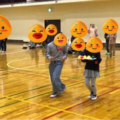 桜/笑顔/子供/運動会 昨日は子供達と室内運動会に参加🏃🏃♀️…