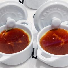 staub ストウブ セラミック ミニラウンドココット ホワイト 40511-083   STAUB(皿)を使ったクチコミ「ホイップクリームのセンスの無さ(◞‸◟)…」(2枚目)