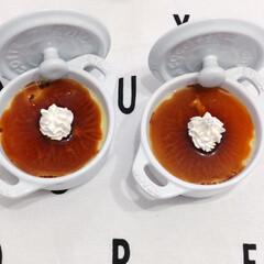 staub ストウブ セラミック ミニラウンドココット ホワイト 40511-083 | STAUB(皿)を使ったクチコミ「ホイップクリームのセンスの無さ(◞‸◟)…」