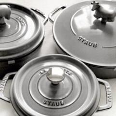 STAUB ストウブ ピコ・ココット ラウンド/18cm グレー/容量1700cc | ストウブ(圧力鍋)を使ったクチコミ「今日からお仕事の方 たくさんいましたね …」