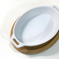 ストウブ staub オーバルディッシュ 29cm ホワイト 40508-608 RSTC620 | STAUB(皿)を使ったクチコミ「連打ですみません(๑•̀ •́)و✧ 大…」