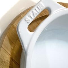 ストウブ staub オーバルディッシュ 29cm ホワイト 40508-608 RSTC620   STAUB(皿)を使ったクチコミ「連打ですみません(๑•̀ •́)و✧ 大…」(2枚目)