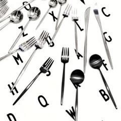 クチポール MOON マットブラック デザート フォーク スプーン セット | クチポール(その他キッチン、日用品、文具)を使ったクチコミ「クチポールのマットブラック使ってましたが…」(3枚目)