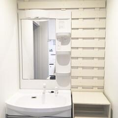 洗面台/サニタリー/DCM/フォロー大歓迎/DIY/収納 洗面所の収納があまりにデッドスペースだら…