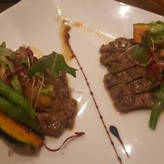 ディナー/幸せな時間/ステーキ/ペアセット/コース料理/お気に入り/...  コース料理😋🍴 メインはやっぱりお肉🍖…