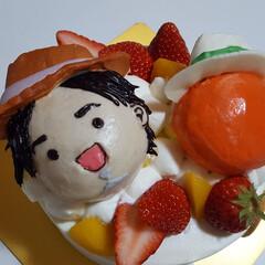 スイーツ好き/カフェ巡り/カフェ好き/おしゃれカフェ/3Dケーキ/かわいい/... チビナオトとカーターくん🎂  めっちゃか…