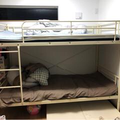 ベッド パイプ二段ベッド Larch ラーチ | ホームテイスト(二段ベッド)を使ったクチコミ「二段ベッドは楽天で購入✨ 組み立ては男性…」