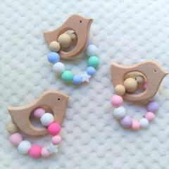 歯固め/ハンドメイド/ベビー用品/赤ちゃん/雑貨 我が家の0歳児の為に作り始めた歯固めリン…