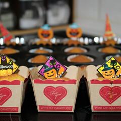 手づくりパン/パン/カップケーキ/ハロウィン2019 ハロウィンカップケーキと、 カボチャ餡の…