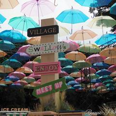 フォロー大歓迎/お出かけ/神宮球場/梅雨/アンブレラスカイ 神宮球場に飾られていたアンブレラスカイです(1枚目)