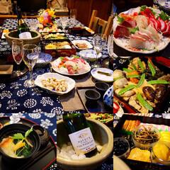 おせち/お正月/家族/団欒/テーブルコーディネート/テーブルセッティング/... お正月の食卓💕 家族で囲んで楽しくいただ…