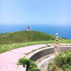 観光/そら/海/夏/夏の思い出/空/... 福岡県の宗像市からフェリーで大島へ。 青…