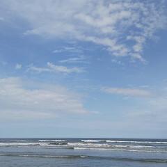 本須賀海岸/海を感じる/海のある暮らし/海が見える/海辺/海遊び/... 家から車で30分で海に行ける幸せ😆🍀 ま…