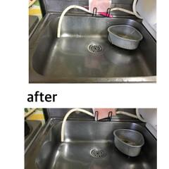 水まわり用輝き洗剤 キーラ 500ml サンスター(台所用洗剤)を使ったクチコミ「祖母の団地宅のキッチンシンクを掃除しまし…」