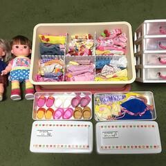 子どもと暮らす/子どものいる暮らし/整理収納/整理整頓/人形グッズ/メルちゃん/... 女の子のいるご家庭なら持ってる人も多いメ…