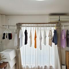 省スペース/梅雨のお洗濯/部屋干しアイテム/梅雨/梅雨対策/雨対策/... 梅雨時のお洗濯!部屋干しなのにたくさん干…