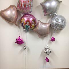 ヘリウムバルーン/バルーン/誕生日/パーティ/ダイソー/セリア/... 100均クオリティ 素晴らしい!! 3歳…