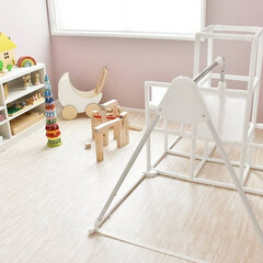 室内ジム/室内滑り台/アクセントクロス/子供部屋インテリア/子供部屋/暮らし おうち時間を楽しんでます! 3年前に購入…
