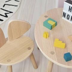 子供部屋/キッズチェア/nofred/マウスチェア/マウステーブル/暮らし/... わが家の動物モチーフグッズはマウスの形を…
