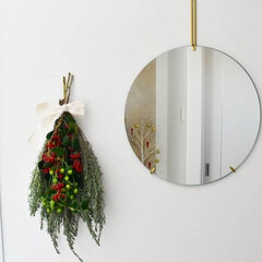 クリスマスインテリア/クリスマススワッグ/スワッグ/雑貨/ハンドメイド/住まい/... 庭の花壇で育てているラベンダーをベースに…(1枚目)