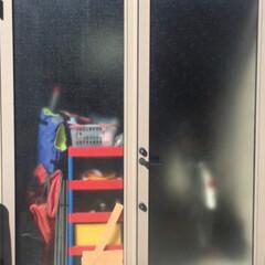 カモ井加工紙 カモイ マスキングテープ ブラック 黒50mm MT ウォールペーパー 太め 普通郵便OK | エムティー(マスキングテープ)を使ったクチコミ「🛠 ガレージの扉 🛠  我が家のガレージ…」(2枚目)