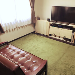 ソファー/寝室 1年ぶりに寝室にソファーを置きました☆ …