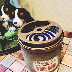 蚊取り線香/リメ缶/リメイク缶 リメ缶作りついでに、蚊の時期なので、蚊取…
