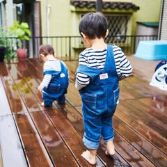 リノベーション/リフォーム/子ども/水遊び/ウッドデッキ/住まい/... 夏は、ウッドデッキで水遊び。