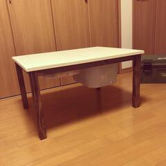 DIY家具/LEGO机/LEGO/収納/手作り/フォロー大歓迎/... LEGO机を作りました!!  IKEAで…