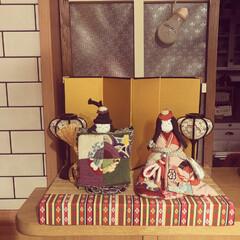手作り/雛人形/ひな祭り/雑貨だいすき/フォロー大歓迎/ハンドメイド/... ひな祭り🎎 我が家のお雛様は母の手作りで…(1枚目)