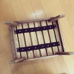 手作り/キャンプギア/キャンプ/コンパクト/机/DIY/... キャンプの焚き火用の机をDIYしました☺…(2枚目)