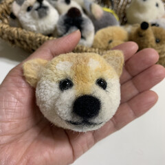 ハンドメイド/手作り/ハンドメイド作品/LIMIA手作りし隊/第2回わたしのハンドメイド/犬ぽんぽん/... 犬ぽんぽんを作りました。 毛糸でぽんぽん…(2枚目)
