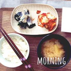 おうちごはん/暮らし 朝から酢の物でさっぱり☺︎  発酵食品摂…
