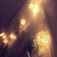 藤球/LED/ガーランドライト/楽天/雑貨/インテリア/... 楽天で購入したガーランドライト♡  スキ…