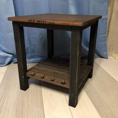 西海岸スタイル/西海岸インテリア/DIY/雑貨/ハンドメイド/住まい パイン材やスギ材を使用してミニテーブルを…