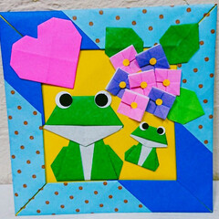 飾り/おりがみ/子供部屋/梅雨/ぬいぐるみ/寝室/... 折り紙が大好きで、季節や行事ごとに作って…