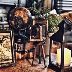 フェイクグリーン/キャンドルランタン/地球儀/ブック型ボックス/男前インテリア雑貨/男前雑貨/... 母の日のプレゼントに息子からレトロなカメ…