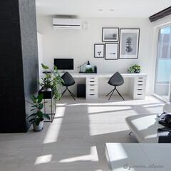 IKEA/みどりのある暮らし/モノトーンインテリア/スタディスペース/スタディデスク/DIY/... ある日のスタディスペース。スタディデスク…