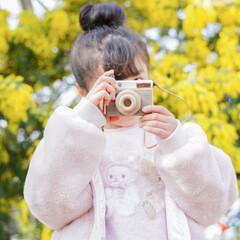 孫/玩具/木のおもちゃ/キッズ/キッズカメラ/おでかけ/... 孫ちゃんズのキッズカメラをDIYしてプレ…(3枚目)
